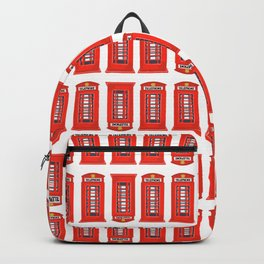 Red Telephone Booth Backpack