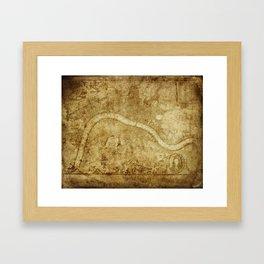 Old Map Framed Art Print