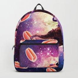 Cowboy Space Cat On Hyena Unicorn - Hot Dog Backpack