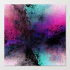 Neon Radial Dreams Canvas Print