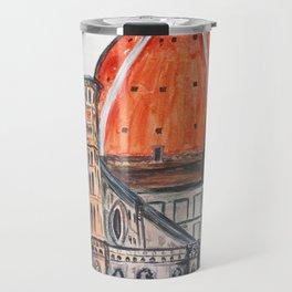 Florence Italy illustration, Firenze duomo Travel Mug