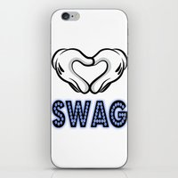 swag iPhone & iPod Skins featuring SWAG by Gold Blood