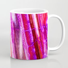 Candy Striped Red & Purple Quartz Coffee Mug