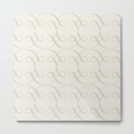 Swashes in Ivory Metal Print