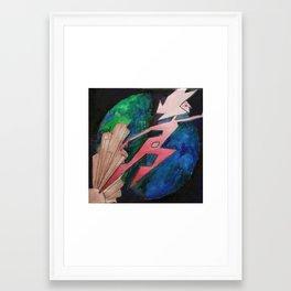 Untitled #66 Pink Diamond Framed Art Print