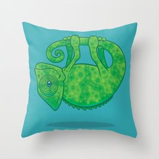 Magical Chameleon Throw Pillow