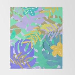 Soft tropical Throw Blanket