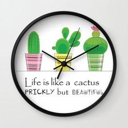 cute tribal cactus Wall Clock