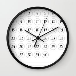40 day challenge Wall Clock