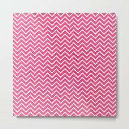 Pink Chevron Pattern Metal Print