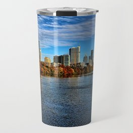 Austin Skyline From Lou Neff Point Travel Mug