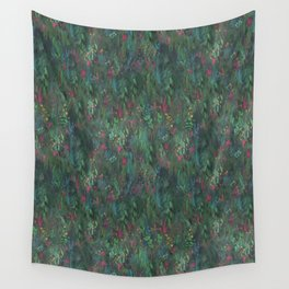 After Anawhata Jungle  Pattern Wall Tapestry