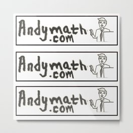 Andy math Metal Print