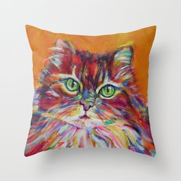 Big fat cat Throw Pillow