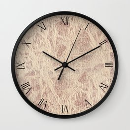 Sepia toned leather sheet textured abstract Wall Clock