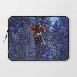 Finish Line Jump - Motocross Racing Champ Laptop Sleeve