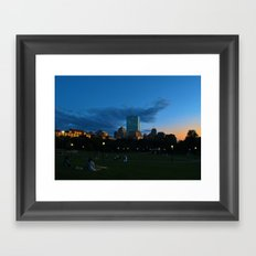 Boston Common Sunset Framed Art Print