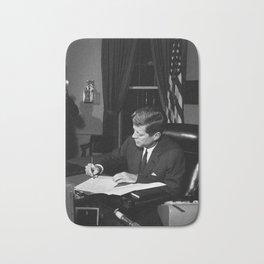 JFK Signing The Cuba Quarantine Bath Mat