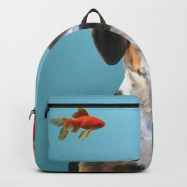 Jack Russel Dog with Goldfishes Backpack