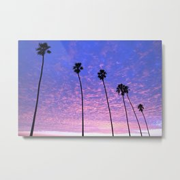 "Sunsets ""Blue Butterfly Palms"" Metal Print"