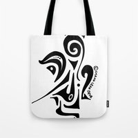 crown Tote Bags featuring Crown by Dror Designs