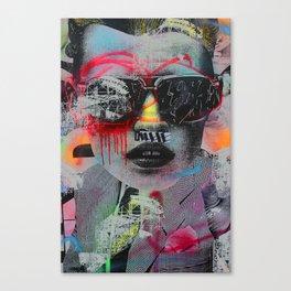 Graffiti Wall NYC Canvas Print