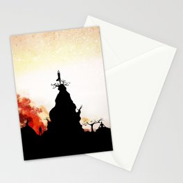 Obsidian Flames Stationery Cards
