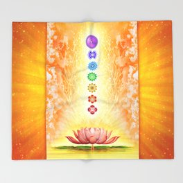Sacred Lotus - The Seven Chakras .I Throw Blanket