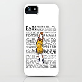"""Black Maamba"" Basketball Typography iPhone Case"