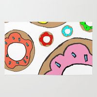 donuts Area & Throw Rugs featuring donuts by Whatcha-McCall-it
