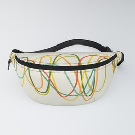 Abstract Minimal Retro Lines Fanny Pack