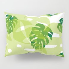 green monstera jungle Pillow Sham