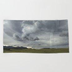 Landscape Photography | Waterton, Alberta | Clouds | Sunset Beach Towel
