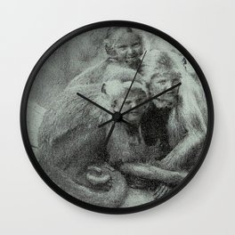 Monkey Children Wall Clock