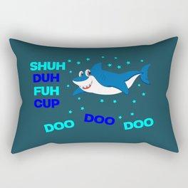 baby shark funny sarcastic annoying song. Rectangular Pillow