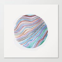 geode Canvas Prints featuring GEODE CIRCLE by shealeenlouise