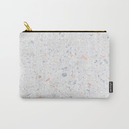 Natural Terrazzo Stone Stucture Pattern Pastel Carry-All Pouch