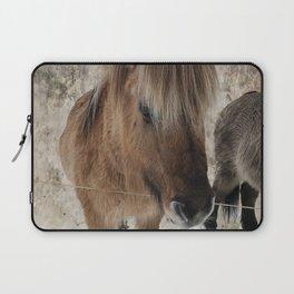 snowy Icelandic horse Laptop Sleeve