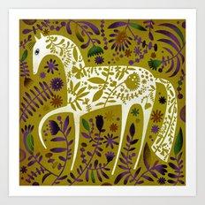 FLOWER HORSE Art Print