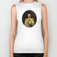 tom hiddleston Biker Tanks featuring Tom Hiddleston 001 by TheTreasure