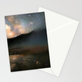 Milky Way Over Yellowstone Stationery Cards