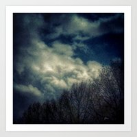 murakami Art Prints featuring Evening Sky by Geni