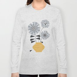Midcentury Floral #society6 #decor #floral Long Sleeve T-shirt