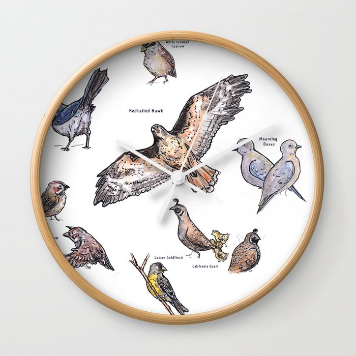 Northern Nevada Backyard Birds Wall Clock
