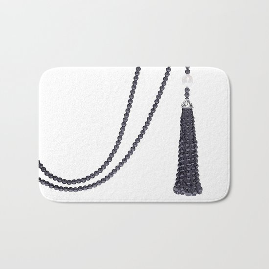 Black Pearls Bath Mat