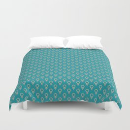Fearless Female Teal Duvet Cover
