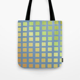 Crooked Boxes on Blue Tote Bag