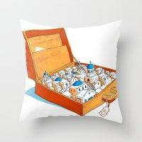greece Throw Pillows featuring Greece by Shahar Kober
