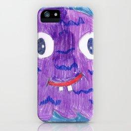 Purple Alien iPhone Case