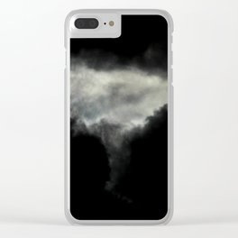 Stormy Clouds Clear iPhone Case
